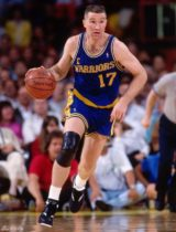 Chris Mullin playing for the Warriors
